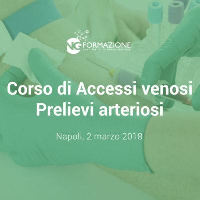 Corso Accessi Venosi Prelievi Arteriosi Napoli 2 marzo 2018