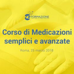 Corso di Medicazioni Semplici e Avanzate Roma 25 marzo 2018