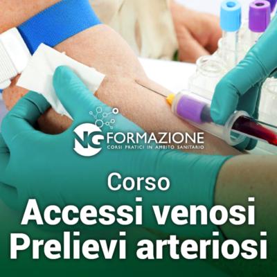 Corso Accessi Venosi Prelievi Arteriosi